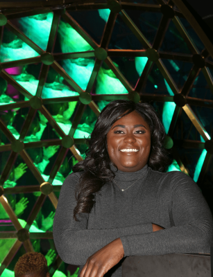 A smiling Danielle Brooks from the Broadway musical - The Color Purple.