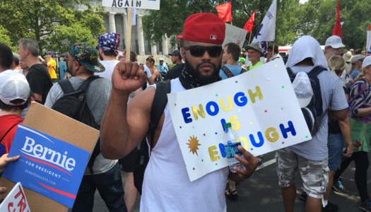 Bernie Supporters Brave Sweltering Heat for Anti-DNC Protest