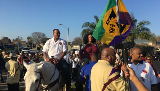 King Zulu-Elect Raises His Flag As Mardi Gras Nears