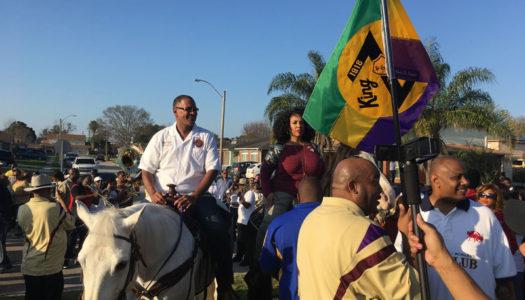 King Zulu-Elect Raises His Flag As Mardi Gras Nears